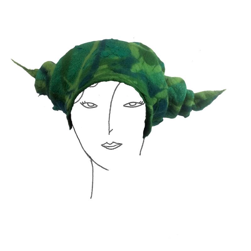 Création Carole Pervier La forêt des chapeaux